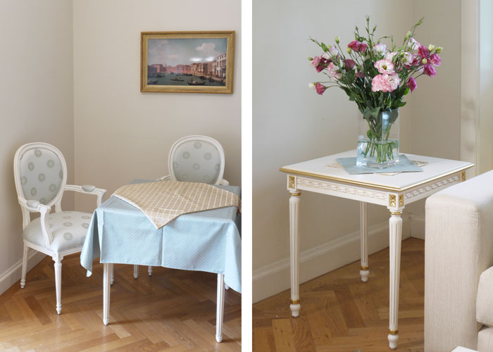 Fench Louis 16 study and side table