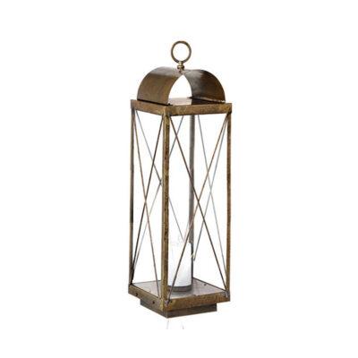 Luminare Brace Lantern Tall in Brass