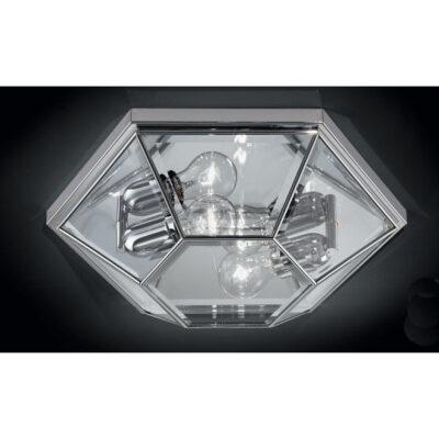 Classic Flush Ceiling Light Chrome