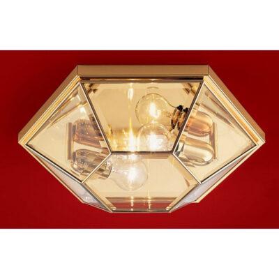 Classic Flush Ceiling Light Gold