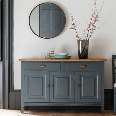 Modern French Sideboard Grey & Timber
