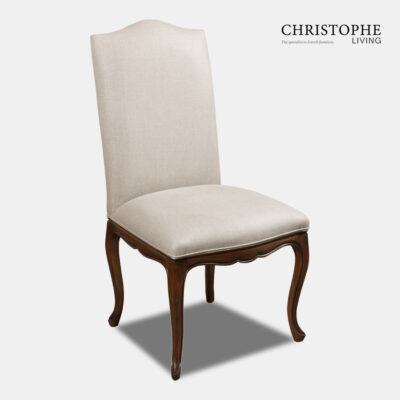Timber carved French and Hamptons style upholstered dining chair made in Italy for sale in Sydney, Australia