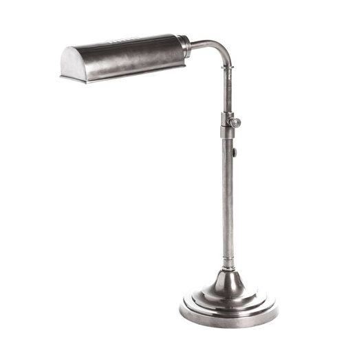 Traditional Desk Lamp Antique Silver