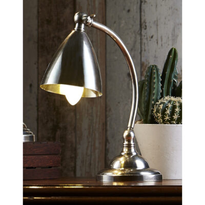 Classic Desk Lamp Antique Silver