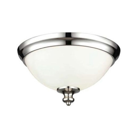 Classic Flush Ceiling Light polished nickel