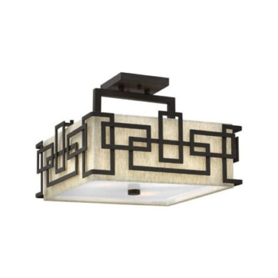 French Traditional Semi-Flush Ceiling Light