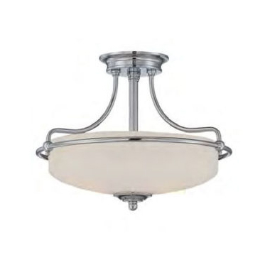 Classic French Semi-Flush Light Polished Chrome