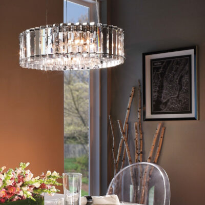 Classic French Prism Pendant Dining Room Lighting