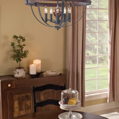 Classic Wrought Iron Chandelier