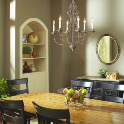 Refined & Traditional French Dining Room Chandelier