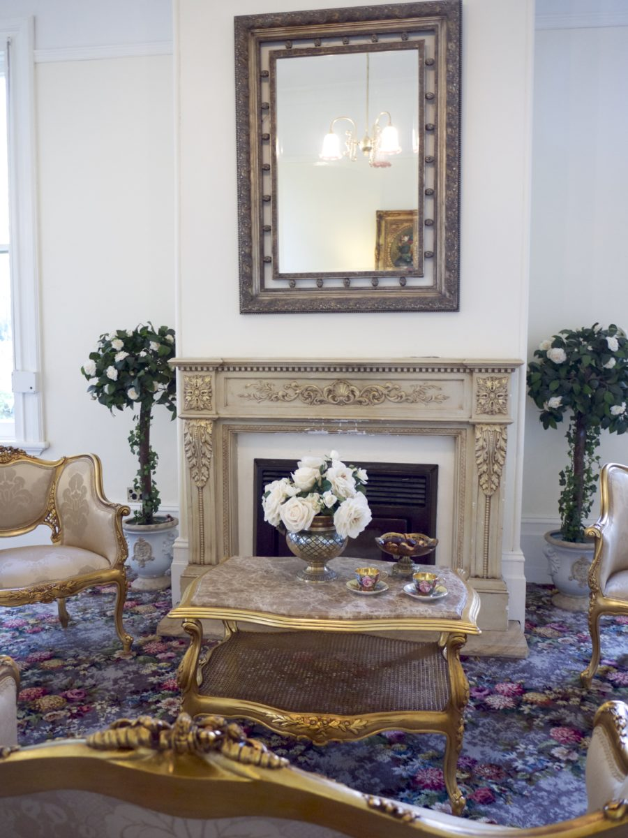 Traditional Fireplace with Classic French Living Room and Gold Finishes