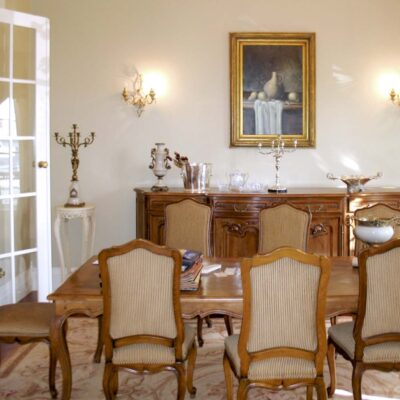 French Traditional Country Victoria Dining Room Timber Setting