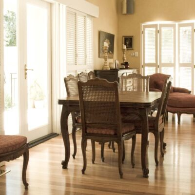 French Traditional & Country Cane Timber Dining Setting