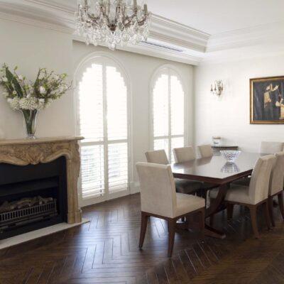Hamptons & French Modern Parisian Home Dining Room