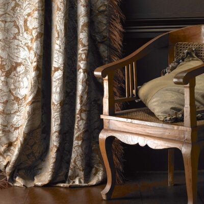 Classic & Traditional Textured Leaf Design Curtains