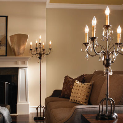 Classic French & Luxury Wrought Iron Living Room Lighting