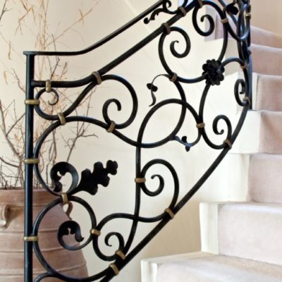 Classic French Wrought Iron Stairwell