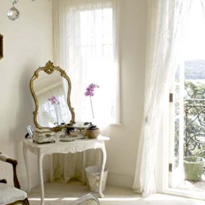 Classic French White Dressing Table