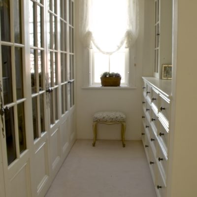 French Classic & Elegant White Dressing Room