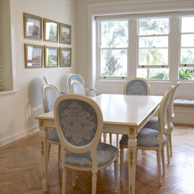 Parisian Style Dining Room with Classic French Dining Setting
