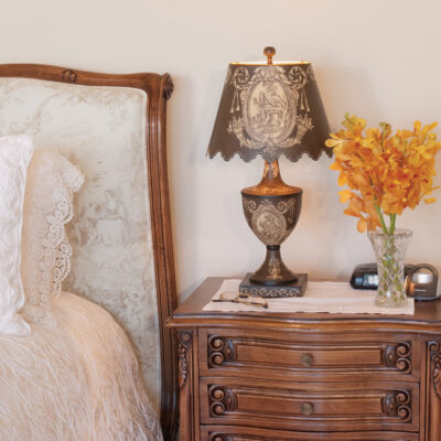French Traditional Timber with Elegant Details Bedside