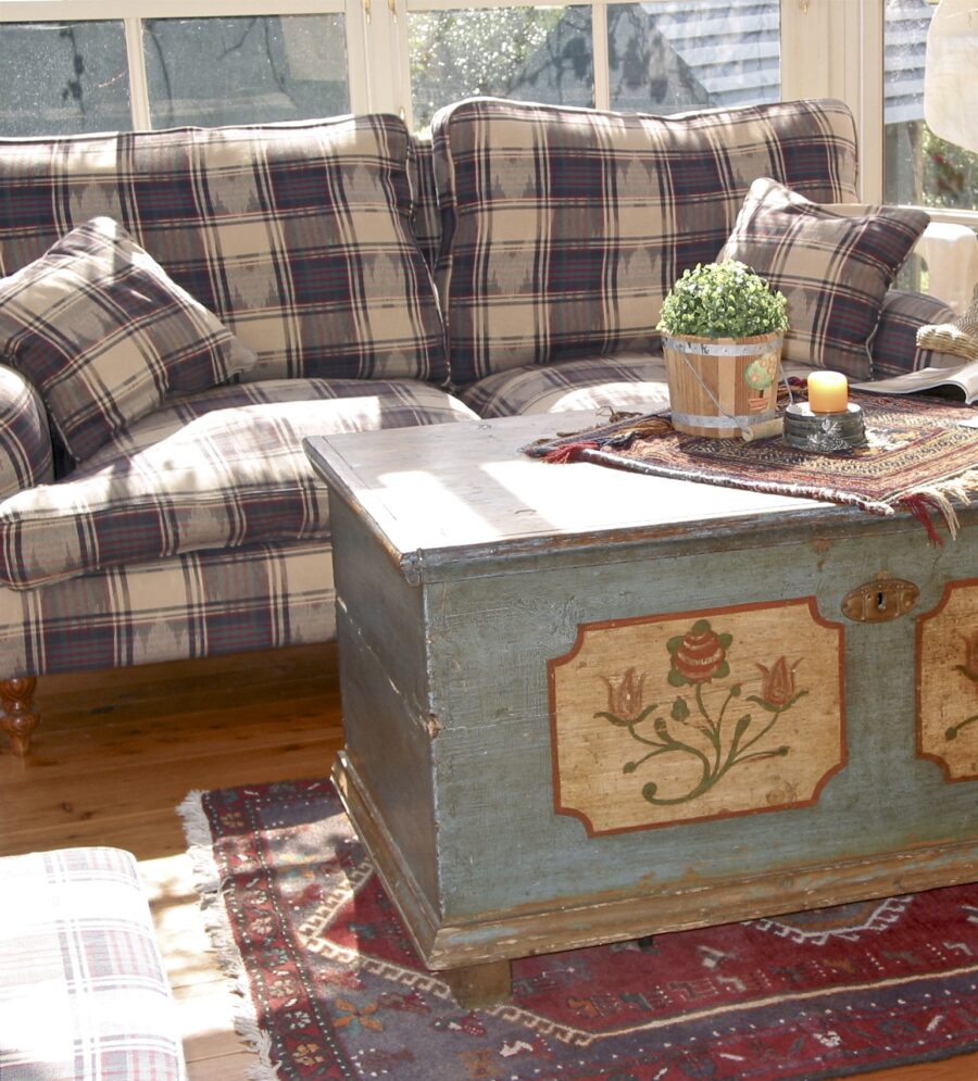 French Country & Traditional Upholstered Sofa