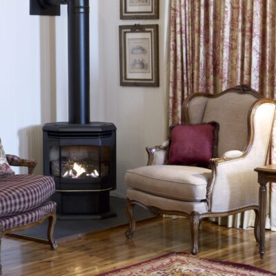 Classic French Style Fireside Setting