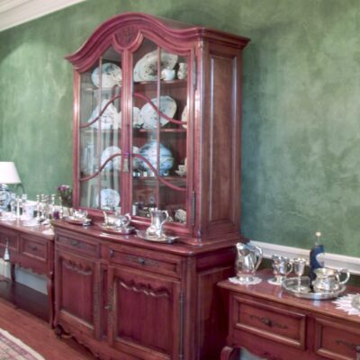 Classic & Traditional Cherry Timber Display Cabinet