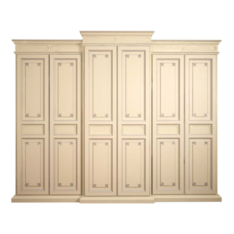 Classic & Traditional French Modern Classic Wardrobe with Painted Trim