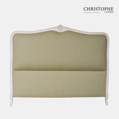 Hamptons bedhead antique white