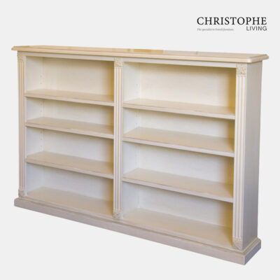 Louis XVI Double Low Bookcase Antique White