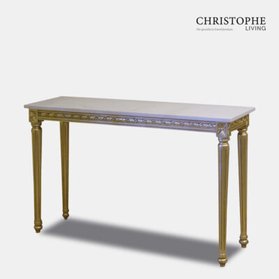 Louis XVI Hall Table Marble Top Fully Gilded