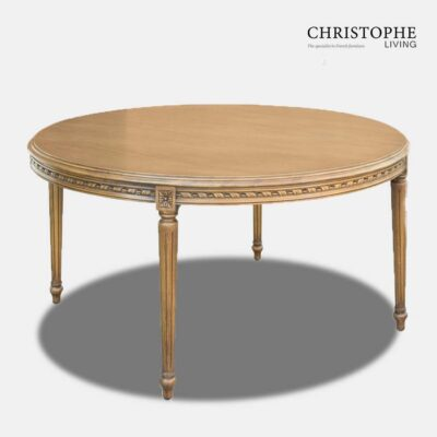 Louis XVI Large Round Dining Table
