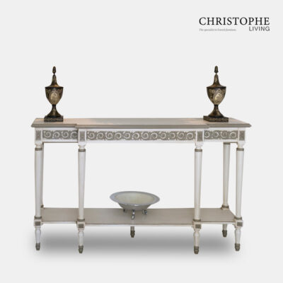 Louis XVI Neoclassical Side Server White Painted
