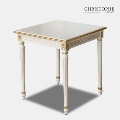 Louis XVI Side Table Antique White with Gilding