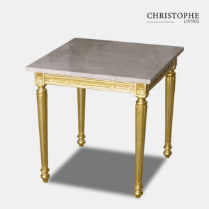 Louis XVI Side Table Marble Top Fully Gilded