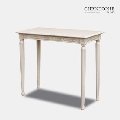 Louis XVI Small Hall Table Antique White