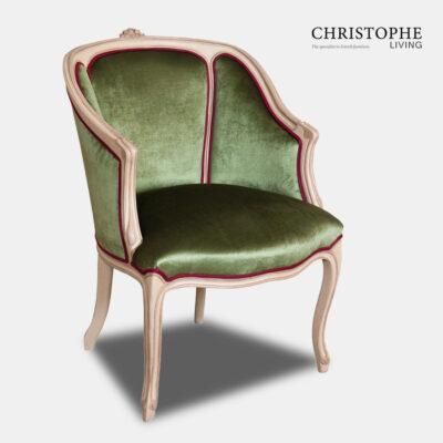 Louis XV Tub Salon Chair Dome Seat Painted