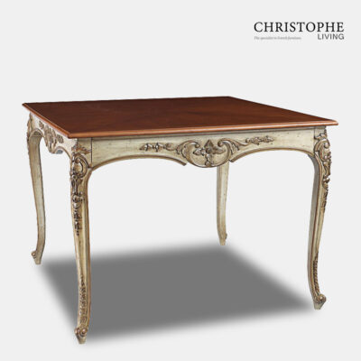 Dining Table Antique finish Marble Top