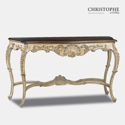 Ornate French Hall Table Marble top