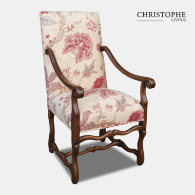 Muttonbone Dining Carver Fully Upholstered
