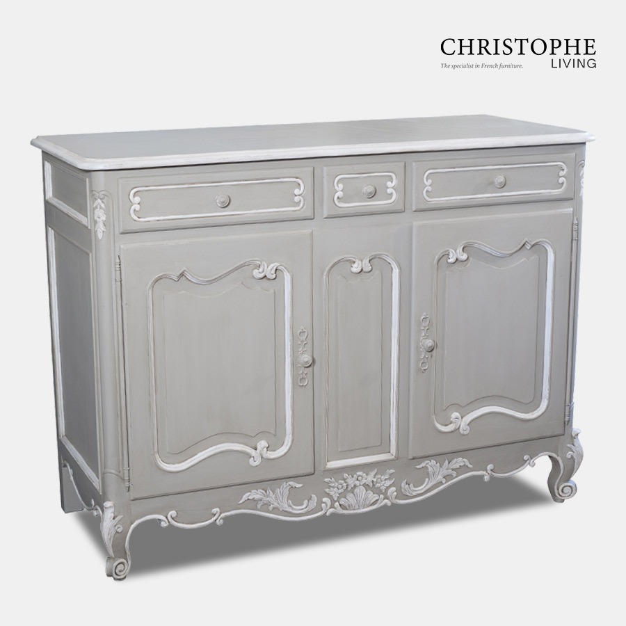 French Provincial Sideboard Grey