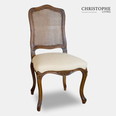 Provence Dining Chair Cane Back Carved