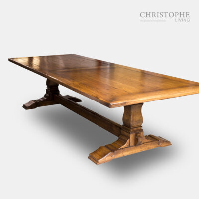 Rustique Refectory Dining Table Frame Top Oak