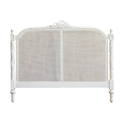 Classic French Versailles Bedhead Antique White