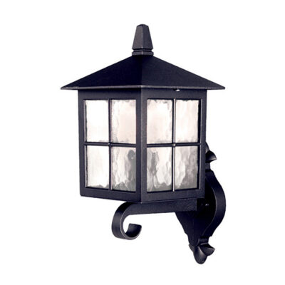 Traditional Wrought Iron Outdoor Wall Lantern