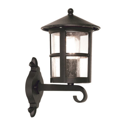 French Wrought Iron Outdoor Wall Lantern