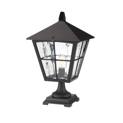 Classic French Outdoor Pedestal Lantern