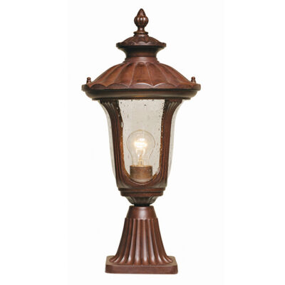 French Traditional Outdoor Pedestal Lantern