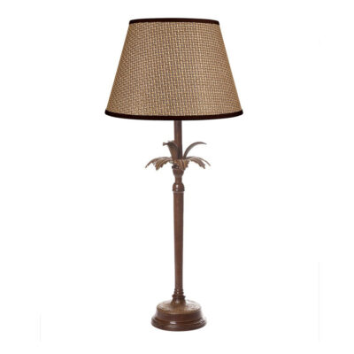 Caribbean Palm Table Lamp in Brown